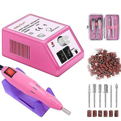Torno para uñas acrilicas Paquete de máquina de pulido de uñas eléctrica profesional de bajo ruido