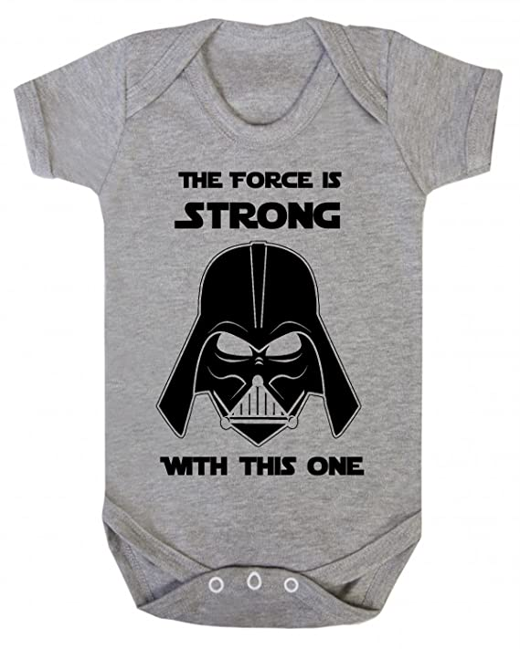 The Force is Strong with this one Star Wars Novedad bebé chaleco de pijama, novedad de Jedia Lemon Talla:0-3 Meses: Amazon.es: Bebé