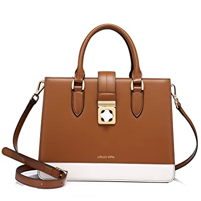 Amazon.com: Designer Leather Handbags for Women Structured Fashion ...