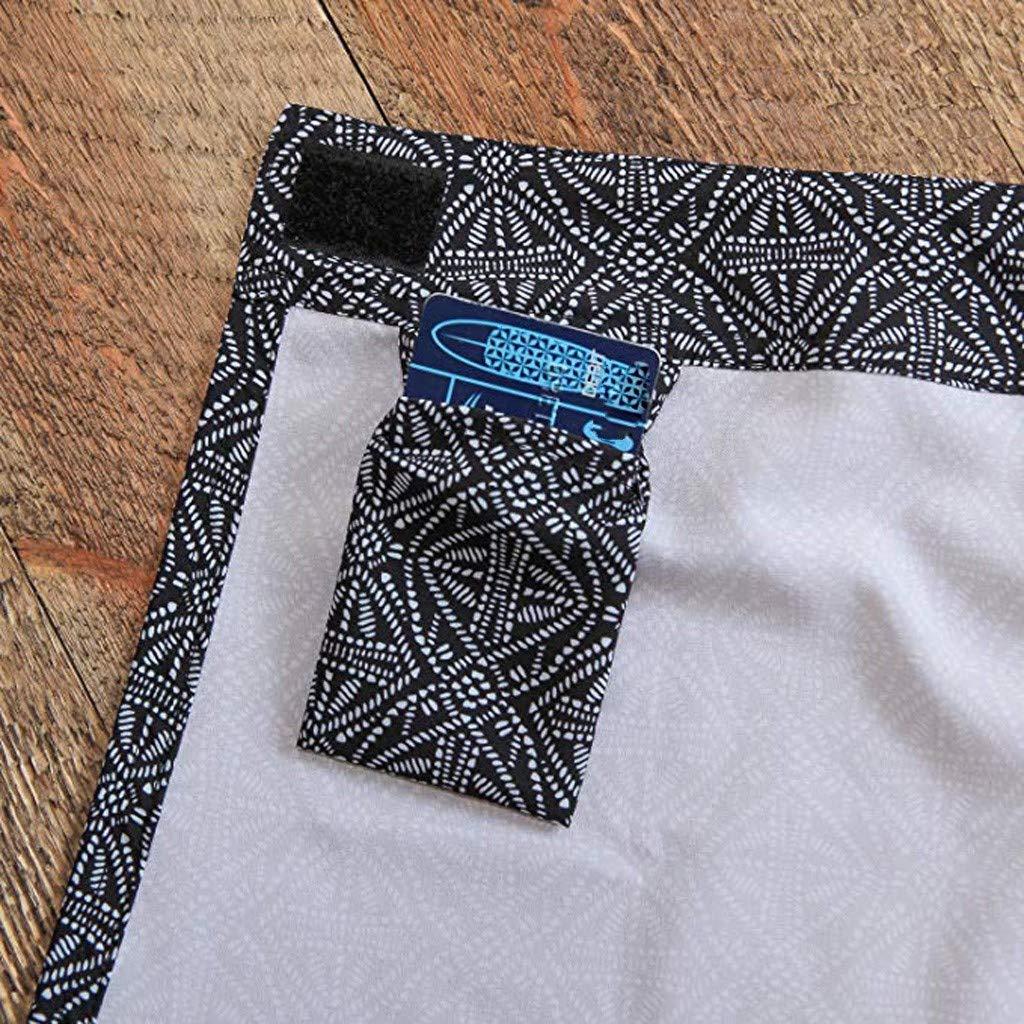 Clearance! Sunfei Women Print Quick Wrap Bikini Cover-up Multitasks Travel Lady Beach Summer Skirt (Black, Large) by Sunfei_Women Swimwear (Image #7)