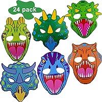 BESTZY Máscaras de Dinosaurio 24 Piezas Máscaras