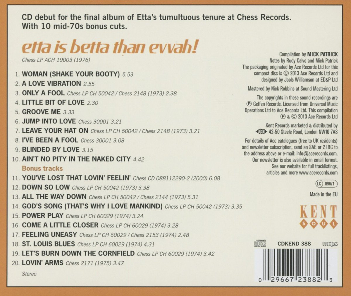 Etta Is Betta Than Evvah! by Kent Island