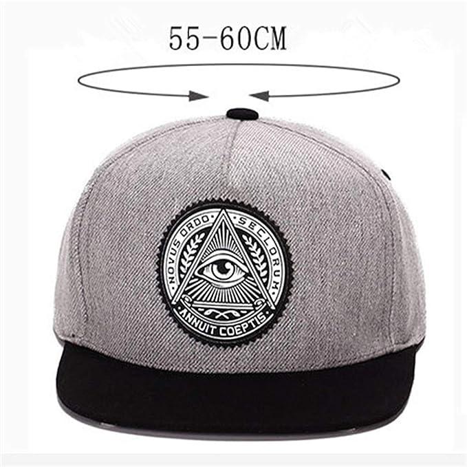 e53a2068157 2018 Fashion Round Label Triangle Eye Illuminati Women Adjustable Baseball  Cap Men Snapbacks Hip Hop Hats at Amazon Women s Clothing store