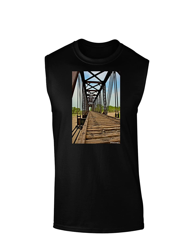 TooLoud Colorado Landscape Bridge Dark Muscle Shirt