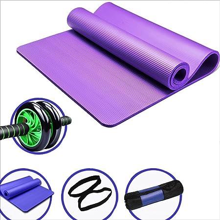 Gymnastics mat fitness equipment set, belly wheel set + sterile NBR yoga mat,  men's fitness mat, yoga mat, 183 x 61 cm workout mat.: Amazon.de: Küche &  Haushalt