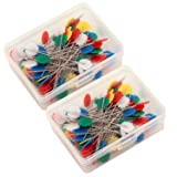 2 boxes Flower Head Pins(200PCS) Sewing Dressmaking
