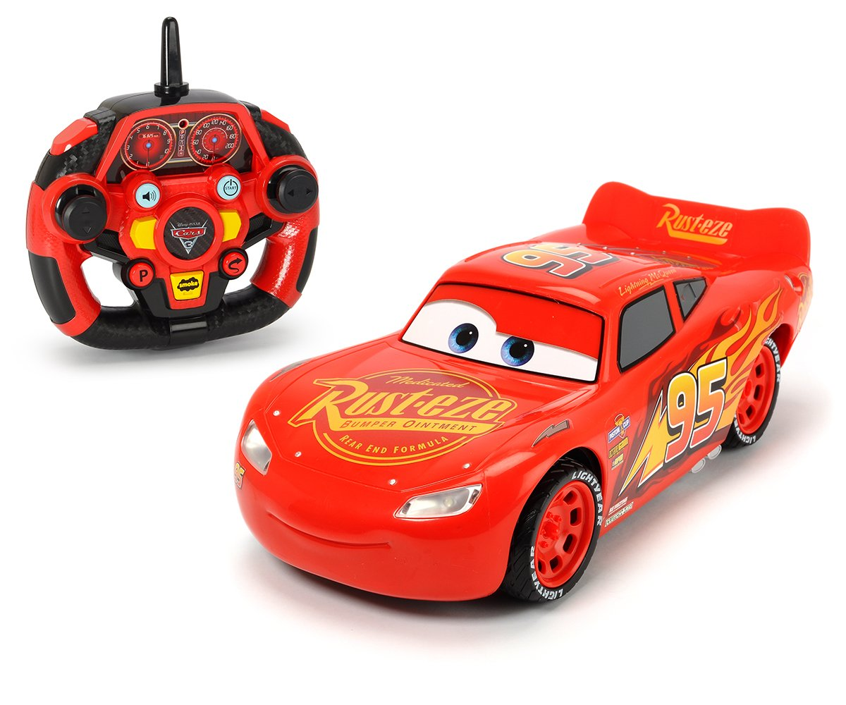 Dickie 515.838.452, 7  cm RC Cars 3  Ultimate  –   Lightning McQueen telecomando auto da corsa 7 cm RC Cars 3 Ultimate - Lightning McQueen telecomando auto da corsa Simba Dickie 203086005