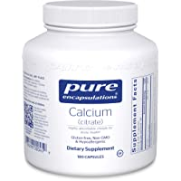 Pure Encapsulations - Calcium (Citrate) - Hypoallergenic, Highly-Absorbable Calcium...