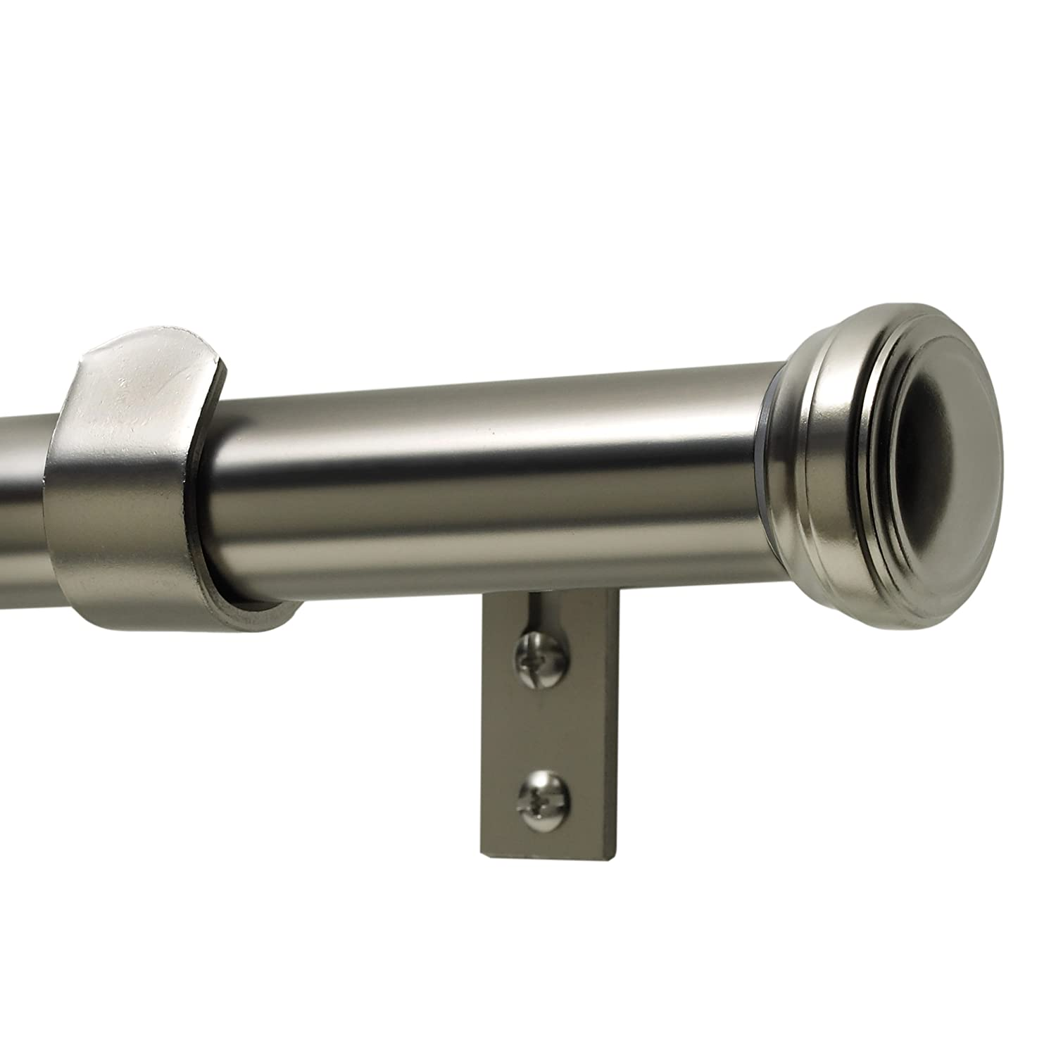 Kenney 54545012 Fluted End Cap Rod Set, 36 To 66 Inch Width, 1 Inch  Diameter, Satin Nickel   Window Treatment Hardware   Amazon.com