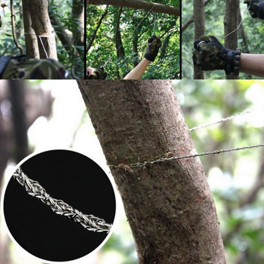 1 scie /à chantourner /élastique en fil dacier pour le camping PingH-lang Scie et accessoires