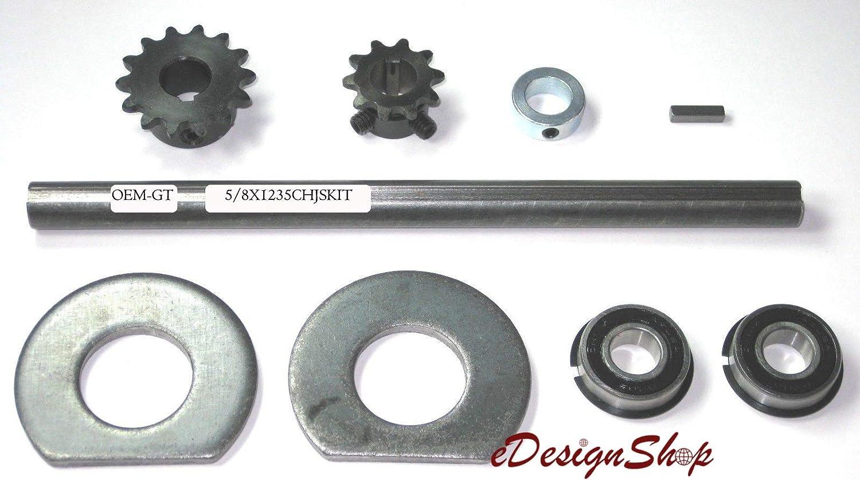Go Kart//Minibike Complete Jackshaft Kit 5//8 X 16 40//41 Chain.