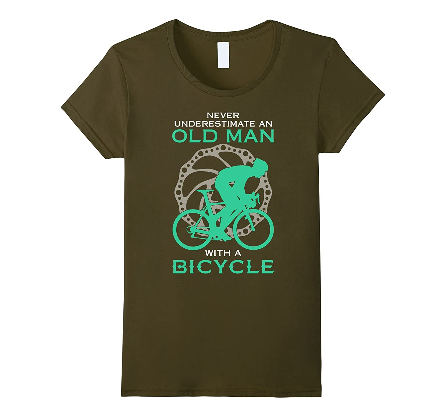 Cycling t-shirt , Never underestimate an old man