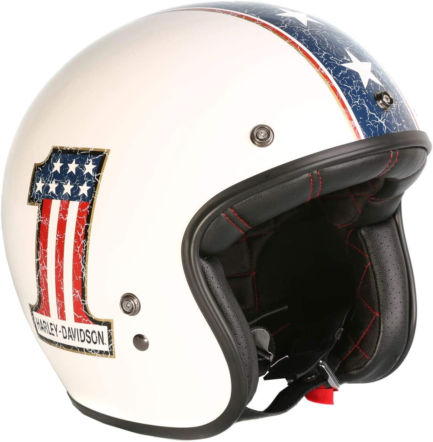 HARLEY-DAVIDSON Americana Retro 3//4 Jet Helm XS EC-98311-15E