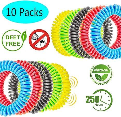 GeekerChip Pulseras Repelente de Mosquitos[10 Pack],Pulsera ...
