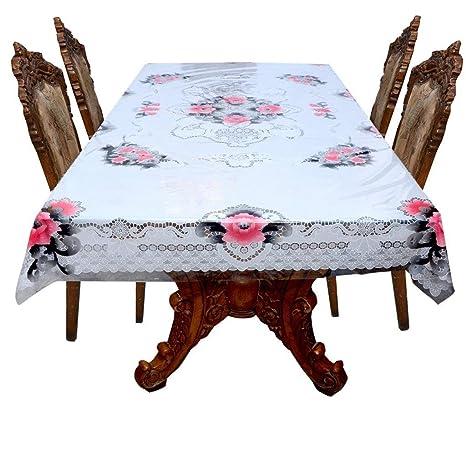 d8e8a465efb Buy Casa Furnishing Transparent Printed 6 Seater PVC Dining Table ...