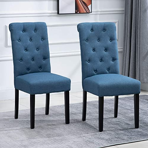 nozama 2 Pack Upholstered Dining Chairs Set of 2 Tufted Parsons Chair
