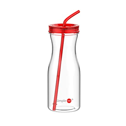 9692fa4e9d Amazon.com: SH&H SimpleHH Cold Drink Tumbler with Straw, 33 oz ...