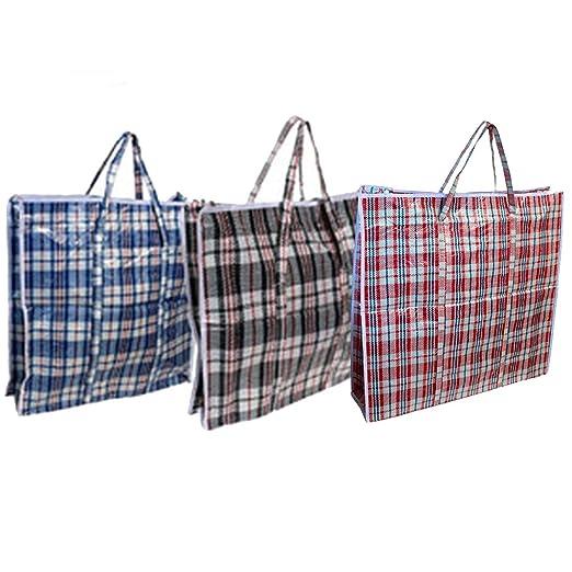 Acan Pack de 6 Bolsas de Rafia 45 x 40 x 10 cm Color Surtido
