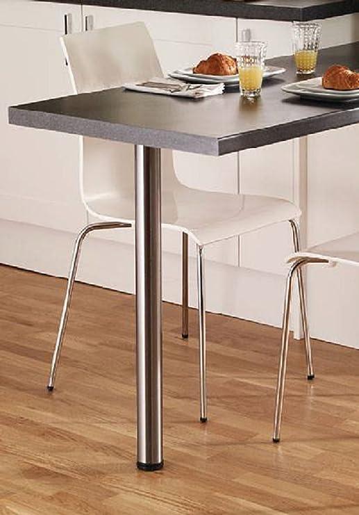 Gtv Breakfast Bar Legs Table Worktop Desks Brushed Steel 1100mm