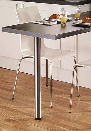 Plan De Travail Sur Pied.Gtv Bar Pieds Table Plan De Travail Bureau Chrome 710 Mm X