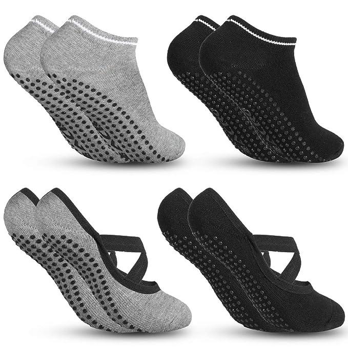 Amazon.com: Zacro - Calcetines de yoga antideslizantes para ...