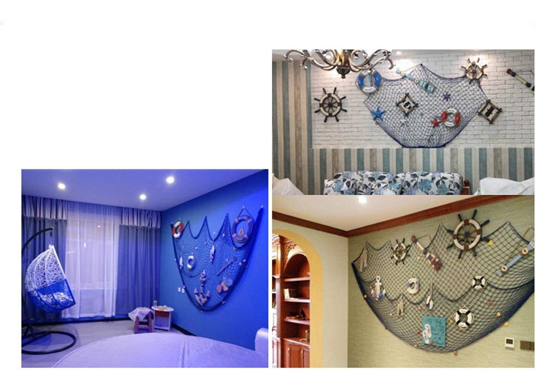 lavoretti di bambini e quadri fornita con 40/mollette Beige Rete da pesca decorativa da parete domestica per appendere foto