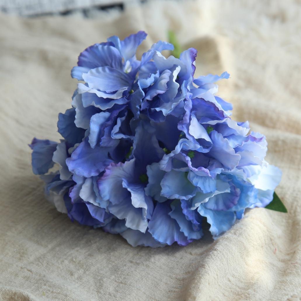 Sinwo Clearance Artificial Flowers,Fake Flowers Silk Fake Flowers Bouquet Peony Floral Wedding Bouquet Bridal Hydrangea Decor Home Decor (G)
