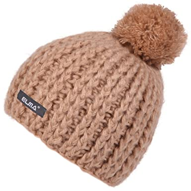 cce2849c272 Super Warm Winter Thick Chunky Knit Snappy Beanie Cap Hat (Camel ...