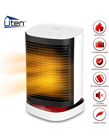 Uten Calentador de Cerámica Portátil Calefactor con Tecnología PTC Termoventiladores de Ventilador con Protección contra Vuelco