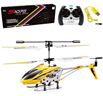 Review Cheerwing S107/S107G Phantom 3CH 3.5 Channel Mini RC Helicopter with Gyro Yellow