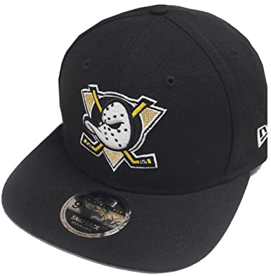 best sneakers 3b0c9 6986f New Era NHL Anaheim Ducks Black Snapback Cap Original Fit S M 9fifty