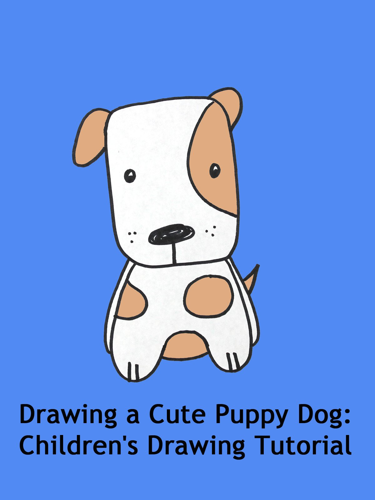 Amazon Com Watch Drawing A Cute Puppy Dog Children S Drawing