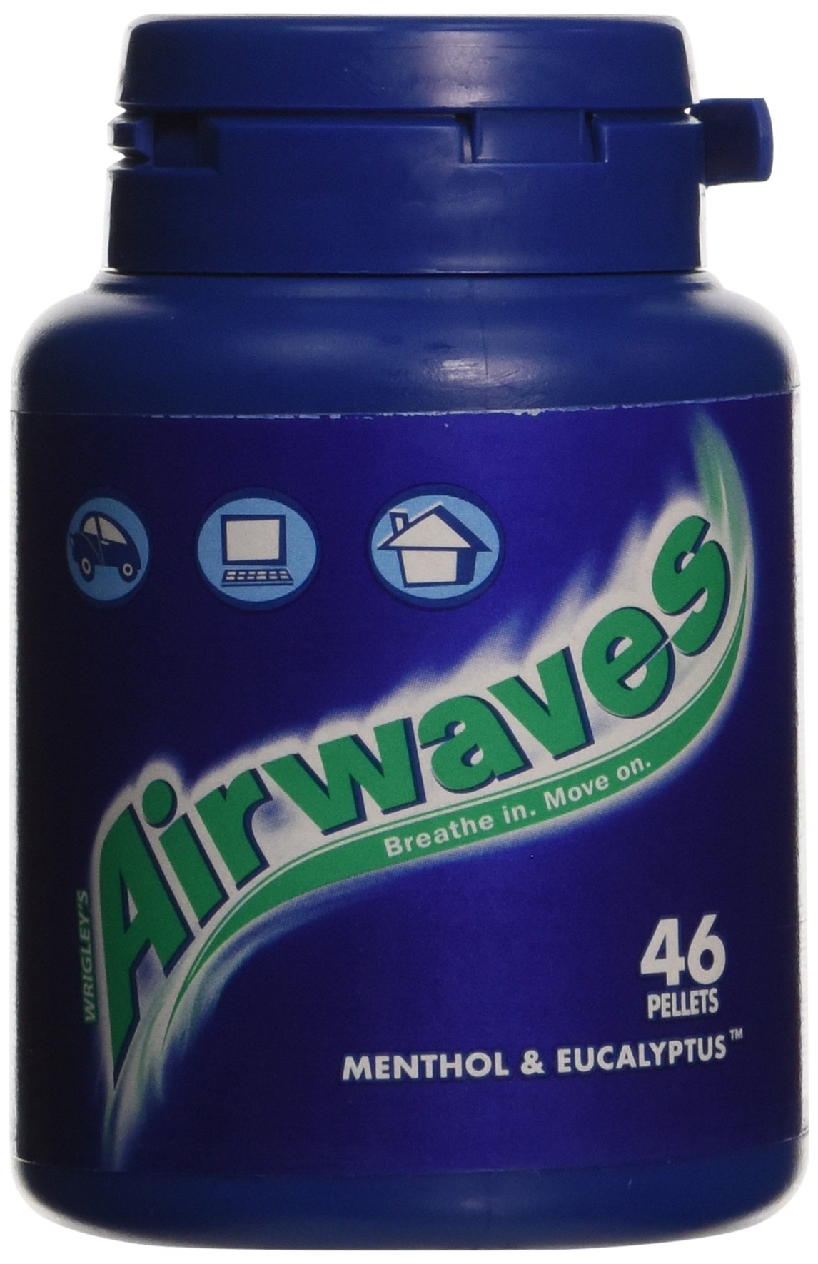 Wrigley's Airwaves Menthol & Eucalyptus Chewing Gum 46 Pieces (Pack of 6)