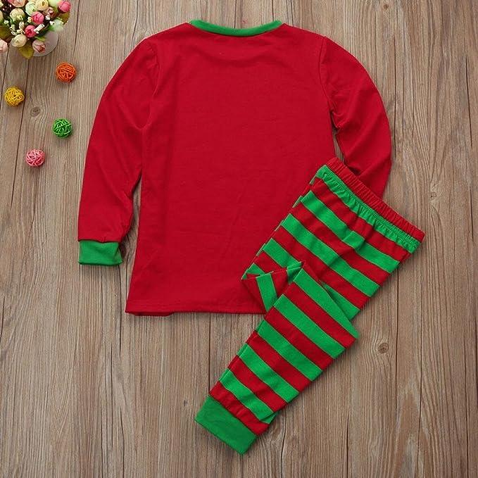 Blusa con estampado de chica Tops y Santa Pants Conjuntos de ropa con traje de Navidad a rayas por ESAILQ: Amazon.es: Ropa y accesorios
