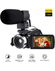 "Digital Video Camera 1080p, Night Vision Camcorders 16x Digital Zoom With Mini Handheld Camcorder 3.2"" Lcd Supports 270°rotation.supports Remote Control . Take Your Photos And Videos Anywhere"