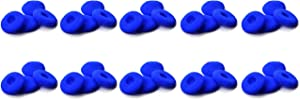 Zotech 40 Pack Replacement Foam Earbud Earpad Ear Bud Pad Replacement Sponge Covers for Apple Airpods EarPods iPod iPhone Itouch Ipad Headsets (Blue)