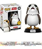 Porg (Chase Edition): Funko POP! x Star Wars - The Last Jedi Vinyl Figure + 1 Official Star Wars Trading Card Bundle (14818)