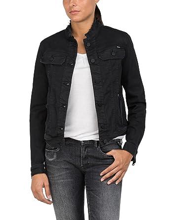 Replay jeansjacke damen schwarz