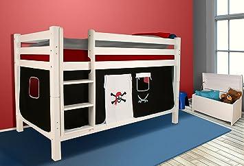 Etagenbett Vorhang Set Mädchen : Spielbett hochbett kinderbett kinder bett jelle cm vorhang