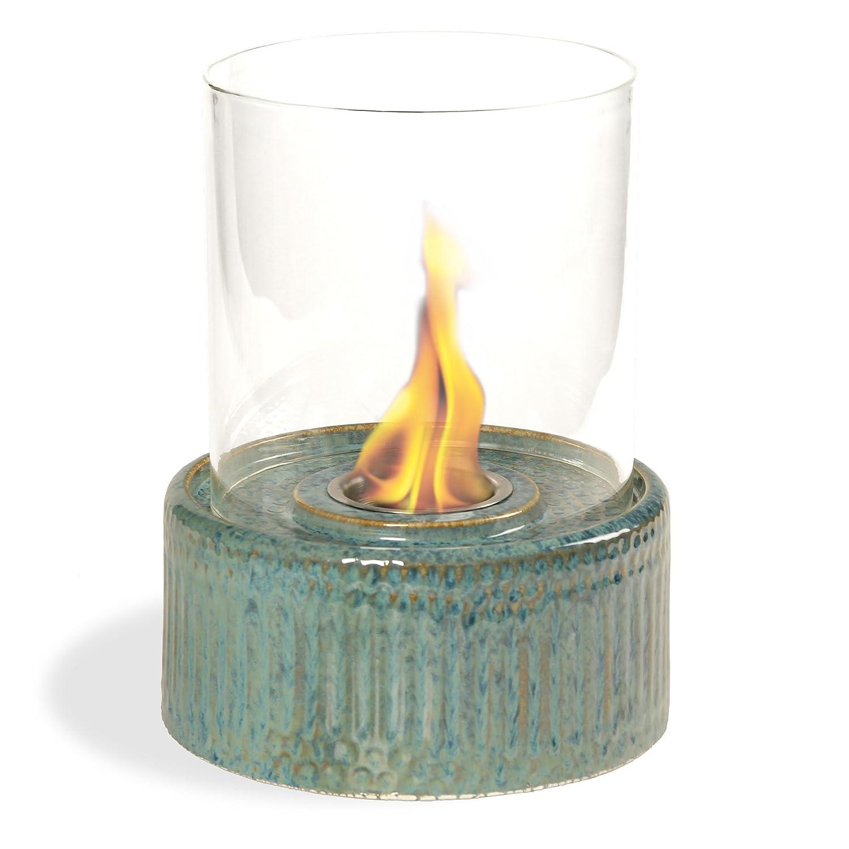Pacific Decor Ceramic Table Fireplace, Blue PACIFIC DÉCOR LTD 5658