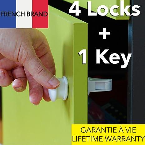 TAKIT Cerraduras Magnéticas de Seguridad para Bebés y Niños, seguros invisibles magnéticos de vitrinas para