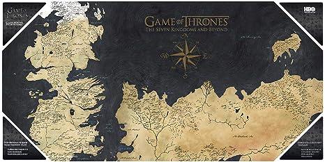 Got Karte Westeros.Amazon Com Game Of Thrones Glas Poster Karte Von Westeros Toys Games