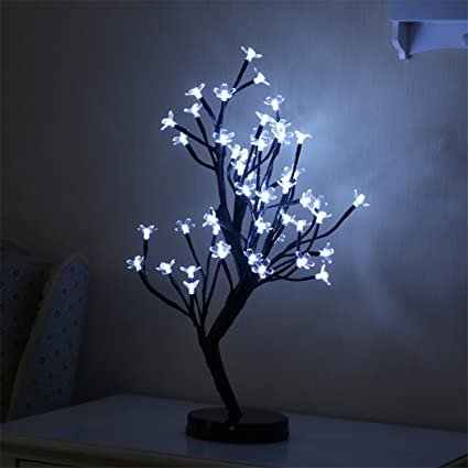 ed68b176802 super1798 48 LED ciruelo Bonsai Árbol Forma Navidad de luz Noche Home  Decorative Party Decor