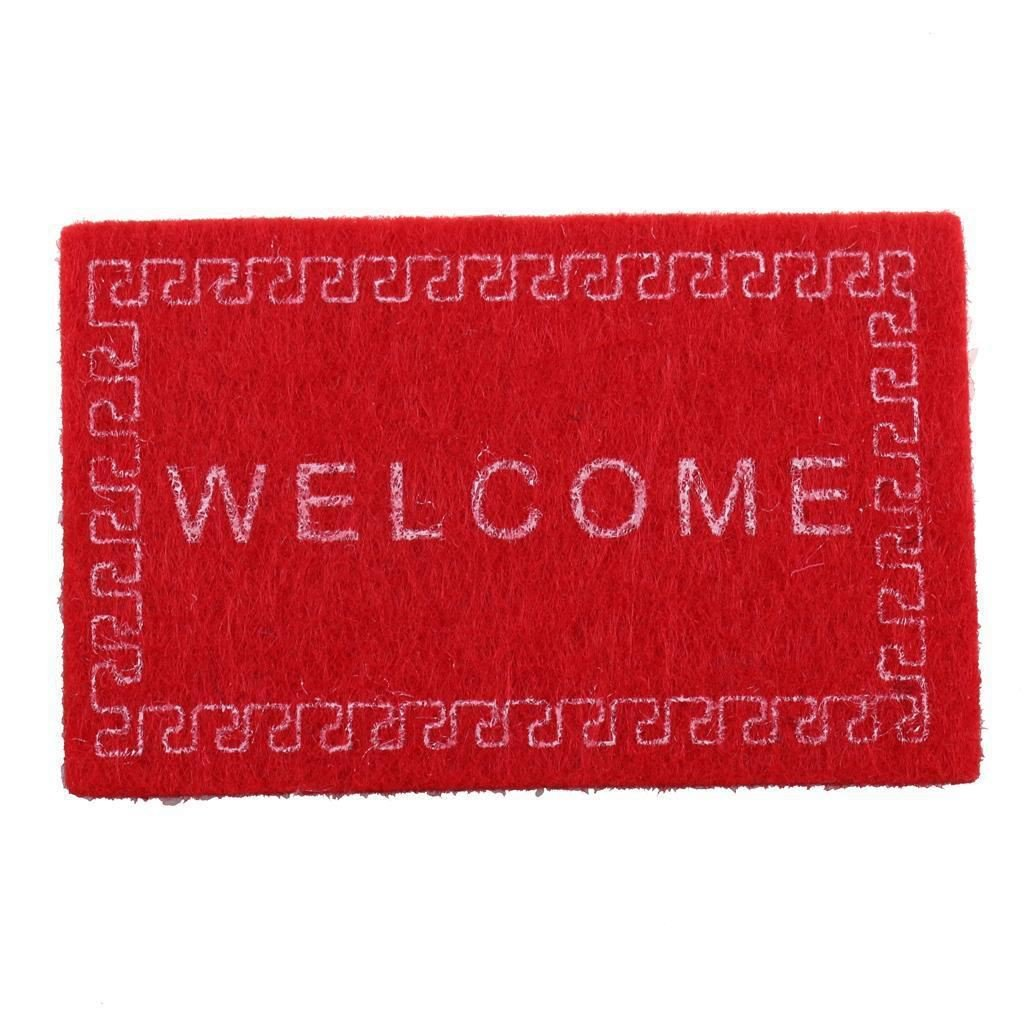 SODIAL Doll House Miniature carpet WELCOME Mat Dollhouse Accessories Home /& Living 1//12 Scale doormats Red