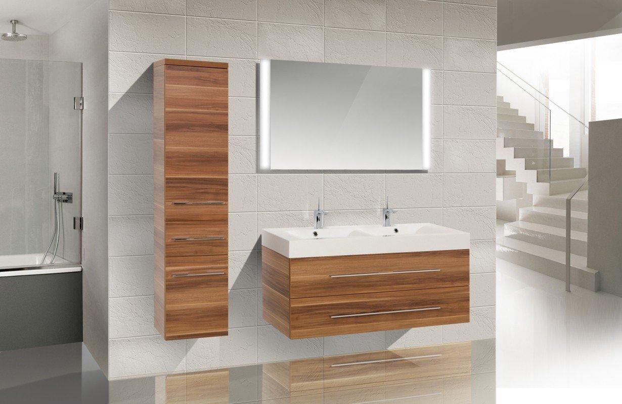 Design Badezimmermöbel Set mit Waschbecken und Doppelwaschtisch 120 cm