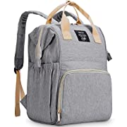 Diaper Backpack for Baby Bags,OSOCE Multi-Function Mom Nappy Maternity Back Packs,Waterproof(Light Grey)