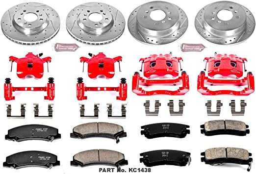 Power Stop KC1437 1-Click Performance Brake Kit with Caliper Front Only
