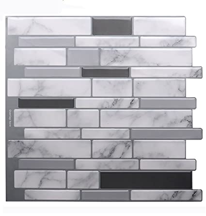 Vamos Tile Premium Anti Mold Peel And Stick Tile Backsplash Stick On Backsplash Wall Tiles For Kitchen Bathroom Removable Self Adhesive 10 62 X 10