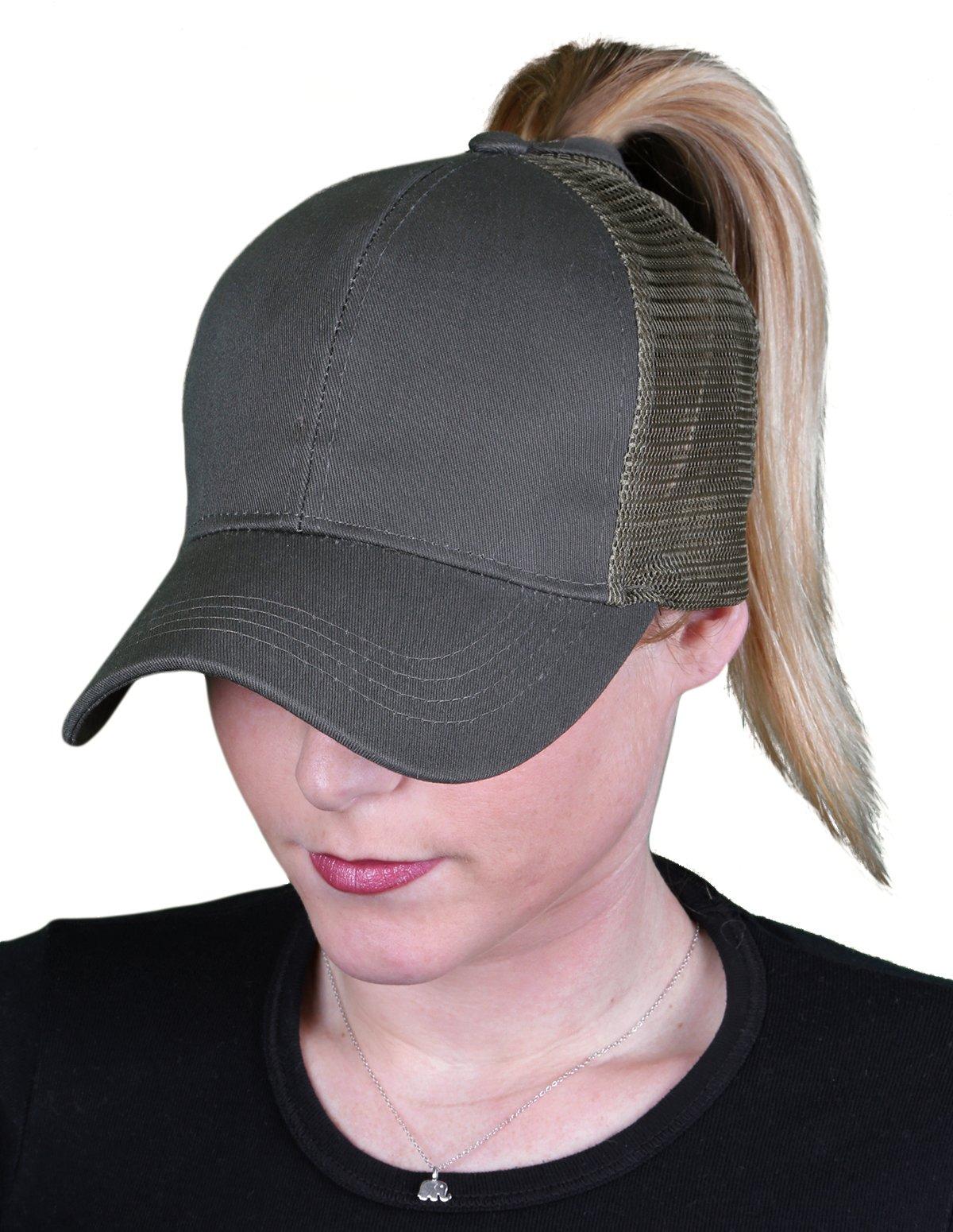 Funky Junque Womens Baseball Cap Adjustable High Ponytail Messy Bun Mesh  Trucker Hat 8dc6d40f7cdb
