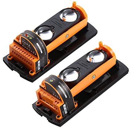ALEAN Wired Photoelectric Dual 2 Beams Detector Active Infrared Outdoor Distance 60m/197ft - - Amazon.com